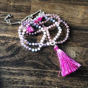 Convertible tassel necklace + bracelet